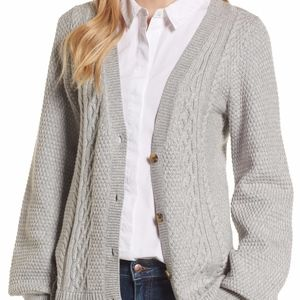 Hinge Cable Knit Cardigan Top Blouse Sz Small New
